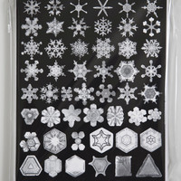 SNOW CRYSTAL Cards 10 pack BLACK Photographs of Snowflakes