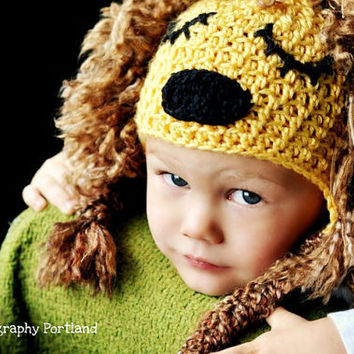 Baby Lion Hat 'King of the Jungle' costume or by jamieinthesky