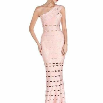 Celeste One Shoulder Bandage Gown