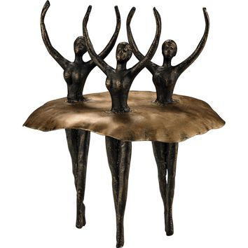Ballerinas Bronze Highlight Antique Gold Accents