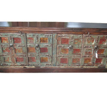 Mogulinterior Antique Indian Sideboard Wood Rustic Buffet Chest Dresser Console India Furniture