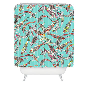 Sharon Turner Lucky Koi Shower Curtain