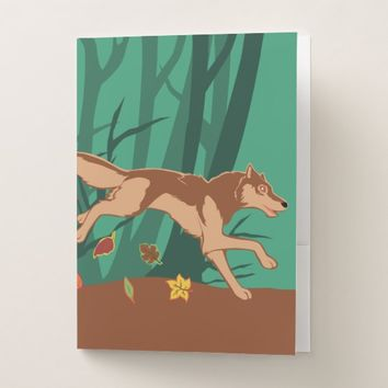 Autumn Wolf Pocket Folder