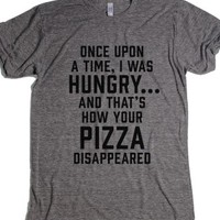Athletic Grey T-Shirt | Funny Pizza Shirts