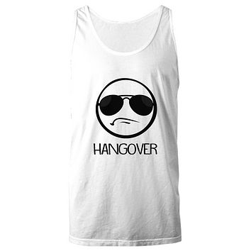 Hangover Funny Party Emoji With Shades Tank Top