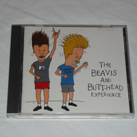 The Beavis and Butthead Experience CD Vintage MTV TV Show Soundtrack Heavy Metal Hard Rock Rap Hip Hop Vintage 1990s 90s Nirvana Megadeth