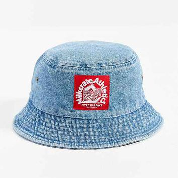 Milkcrate Athletics Washed Denim Bucket Hat- Light Blue