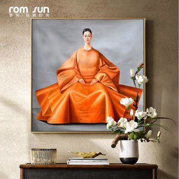 Splendid Attire Korean Japanese East Woman Canvas Painting Wall Art Picture For Living Room Home Decor Solemn Posters And Prints