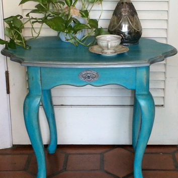 Blue Cottage End Table