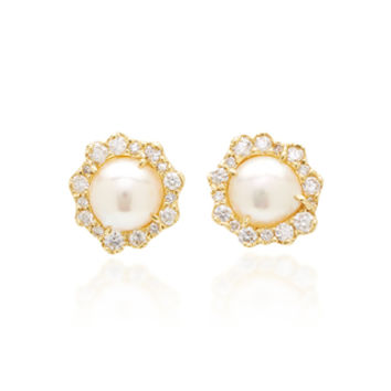 One-Of-A-Kind Reclaimed Pearl Studs | Moda Operandi