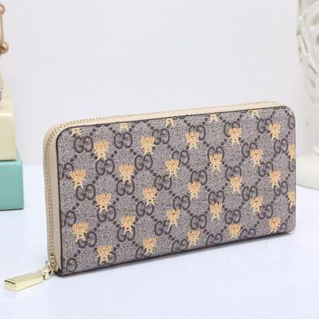 DCCK GUCCI Bee Women Fashion Embroidery Leather Buckle Wallet Purse Clutch Bag3