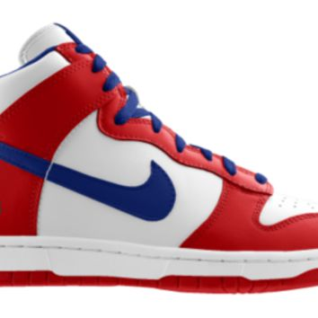 Nike Dunk High NFL Buffalo Bills iD Custom Men's Shoes - Red