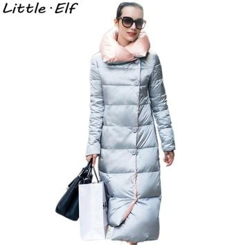 Little Elf! 2016 New Jacket Women Winter Coat womens Clothing Long Cotton Padded Slim Warm Down Jacket Coat High Quality SY024