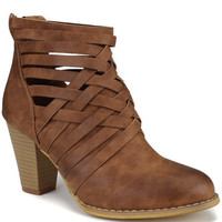 Strappy Booties - Brown