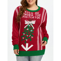 Kiss Me Under the Cameltoe X-Mas Sweater