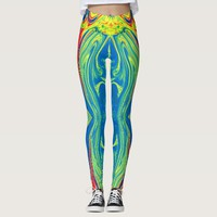 Colorful Abstract Patterns Leggings