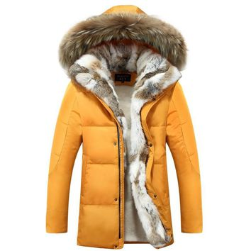 2017 Winter Coat Men Down Jacket Coat Men's Fashion Casual Thickening Warm Hooded Coats & Jackets Winter Coat Size S-5xl