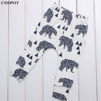 Baby Boys Spring Leggings Boys Girls Cotton Harem Pants Kids Cute Long Pants Newborn Fashion Leggings 2017 New Arrival 30D