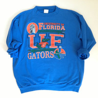 Vintage University of Florida Gators Blue Crewneck Sweatshirt - Lightweight Crewneck