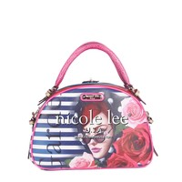 LADY IN RED PRINT BOWLER BAG - NEW ARRIVALS
