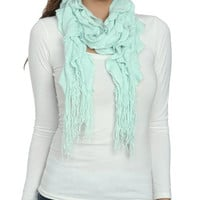 Multi Ruffle Knit Scarf | Shop Accessories at Wet Seal