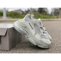 Gray Balenciaga Triple-S Sneaker Casual Shoes Clunky Sneakers