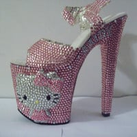 3D Crystallized Hello  Kitty Heels w/ Picture