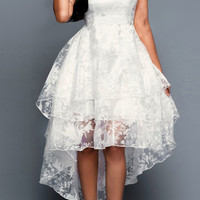 Western-Style Sleeveless Cotton Organza Tank Dress