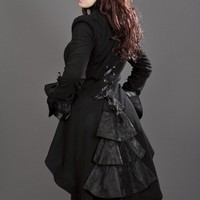 Pirate coat black fleece - Burleska