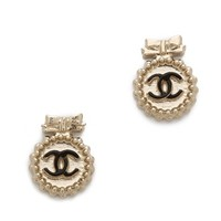 Vintage Chanel Tiny Bow CC Earring