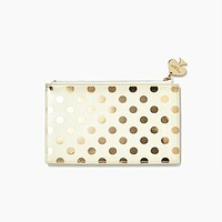 Pencil Pouch in Gold Dots by Kate Spade New York - FINAL SALE