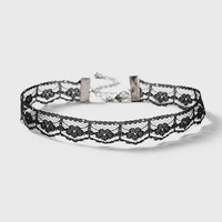 Thin Pointed Lace Choker Necklace | Topshop