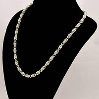 Women's Sterling Silver Handcrafted Byzantine Necklace, Sterling Silver Chain, Chainmaille, Bridal Necklace, Gift for HER, Bridal Necklace