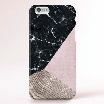 iPhone 6 Case, iPhone 6 Plus Case, iPhone 5S Case, iPhone 6, iPhone 5C Case, iPhone 4S Case, iPhone 4 Case - Marble wood block pink