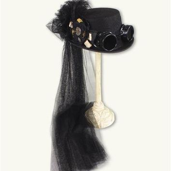 Mad Hattie Steampunk Hat | Gothic Hat with Goggles