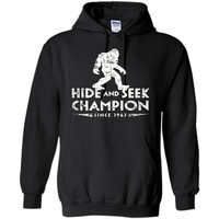 Hide &Seek Champion Since 1967 Shirt Funny Bigfoot Sasquatch