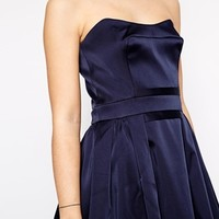 French Connection Techno Princess Strapless Flare Dress at asos.com