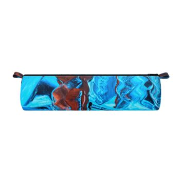 Abstract Art Blue & Red Pencil Case