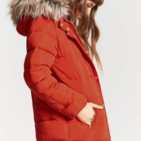 Faux Fur-Trimmed Parka Jacket