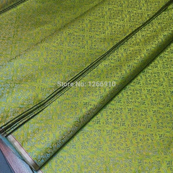 chinese silk brocade  fabric cheongsam cushion same color green diffrent pattern Similar Tapestry satin
