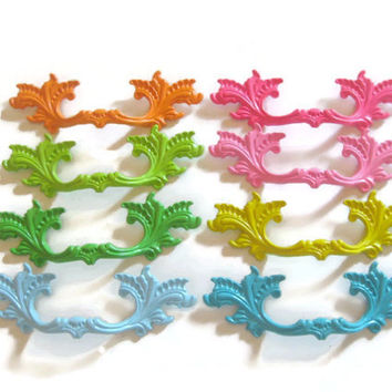 """2 DAY SALE Tropical Inspired French Provincial Drawer Pulls 3"""" Centers Lot of 6 different quantities available"""