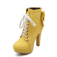 Thick High Heel Ankle Boots up to Size 12