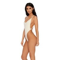 Bare Necessities Scoop Neck Low Back Double Layered Bodysuit