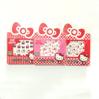 Hello Kitty Nail Wrap Stickers DIY Nail Decals Pink Magenta Black Ribbons