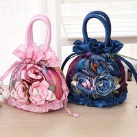 Women's Flower design tote style casual purse