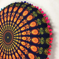 Indian Mandala Floor Pillow Case