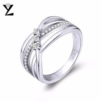 YL 100% 925 Sterling Silver Wedding Rings for Women Men's Ring with Natural Stone Fine Jewelry for Best Friend Gifts