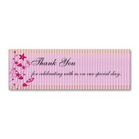 Wedding Thank You | Pink & Red Flower Butterfly Business Card Templates