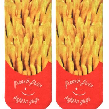 Fries Before Guys Ankle Socks