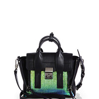 Pashli Small Mixed-Media Satchel